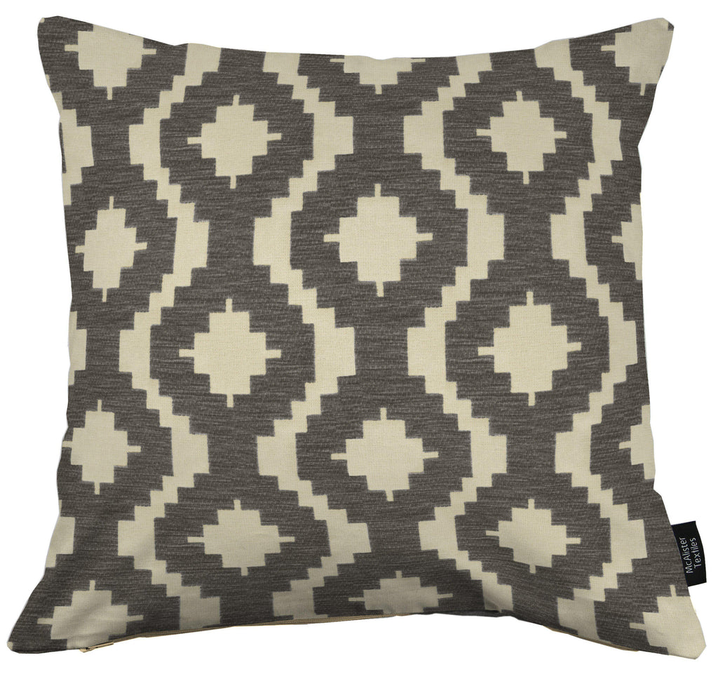 McAlister Textiles Arizona Geometric Charcoal Grey Cushion Cushions and Covers Cover Only 43cm x 43cm