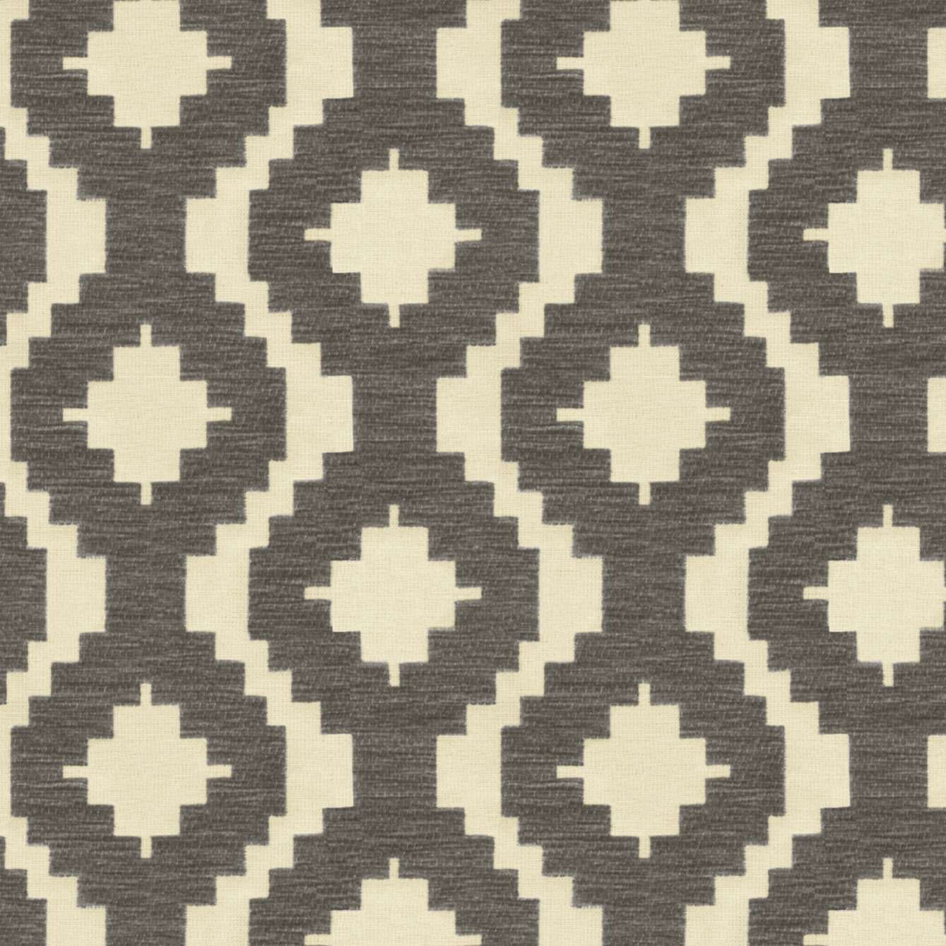 McAlister Textiles Arizona Geometric Charcoal Grey Fabric Fabrics 1 Metre