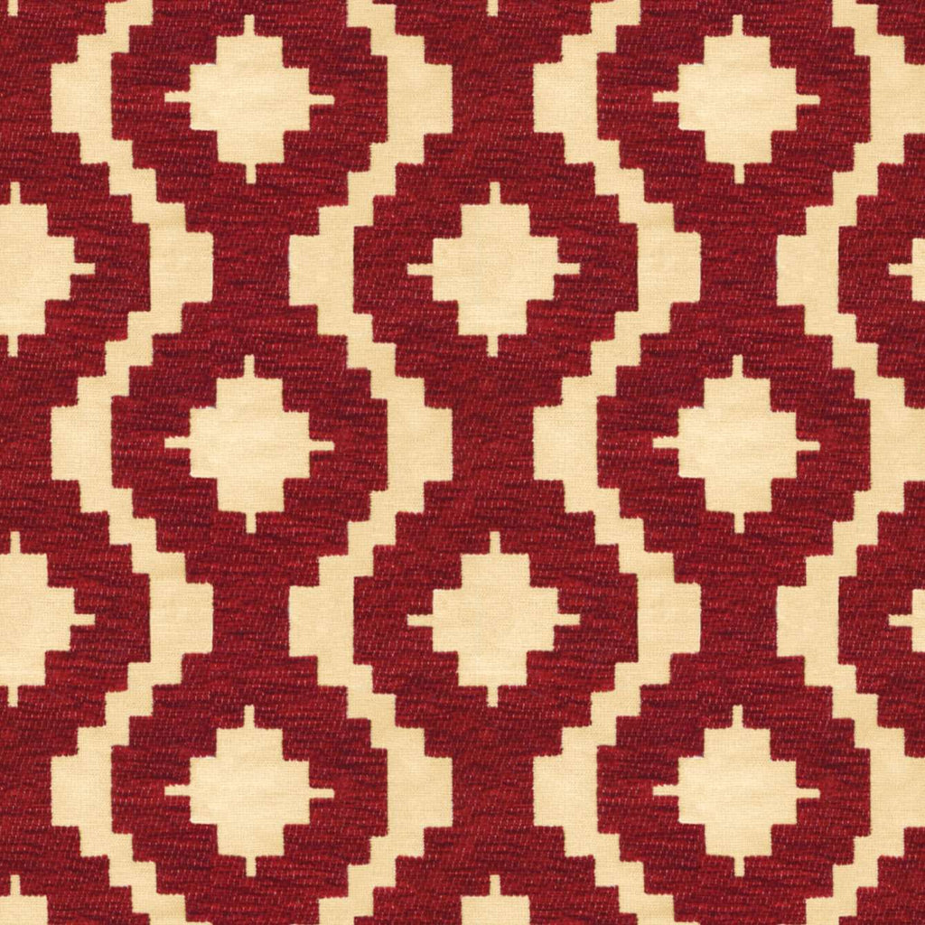 McAlister Textiles Arizona Geometric Red Fabric Fabrics 1 Metre
