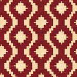 Load image into Gallery viewer, McAlister Textiles Arizona Geometric Red Fabric Fabrics 1 Metre