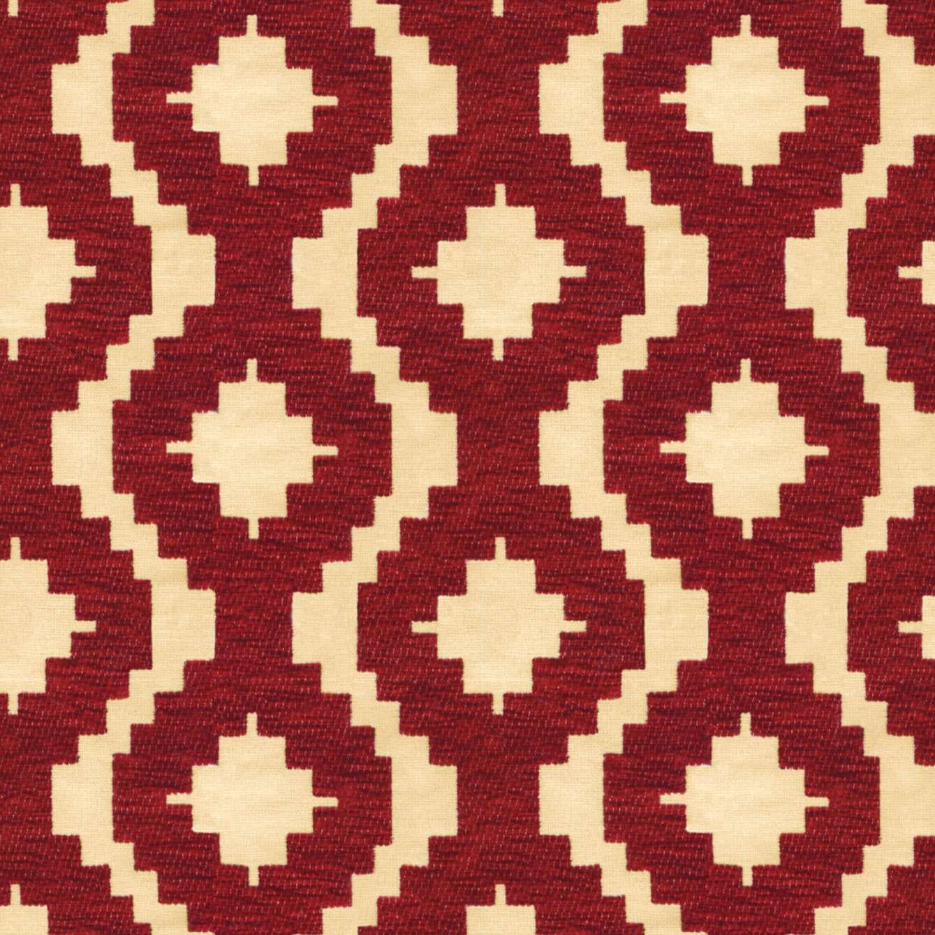 McAlister Textiles Arizona Geometric Red Roman Blind Roman Blinds