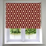 Load image into Gallery viewer, McAlister Textiles Arizona Geometric Red Roman Blind Roman Blinds Standard Lining 130cm x 200cm Red