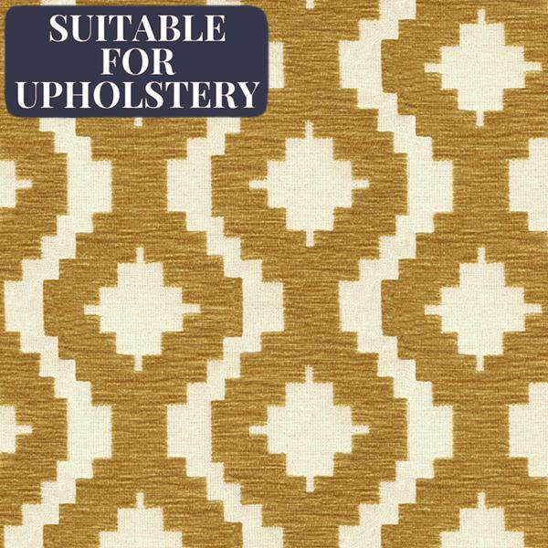 McAlister Textiles Arizona Geometric Yellow Fabric Fabrics