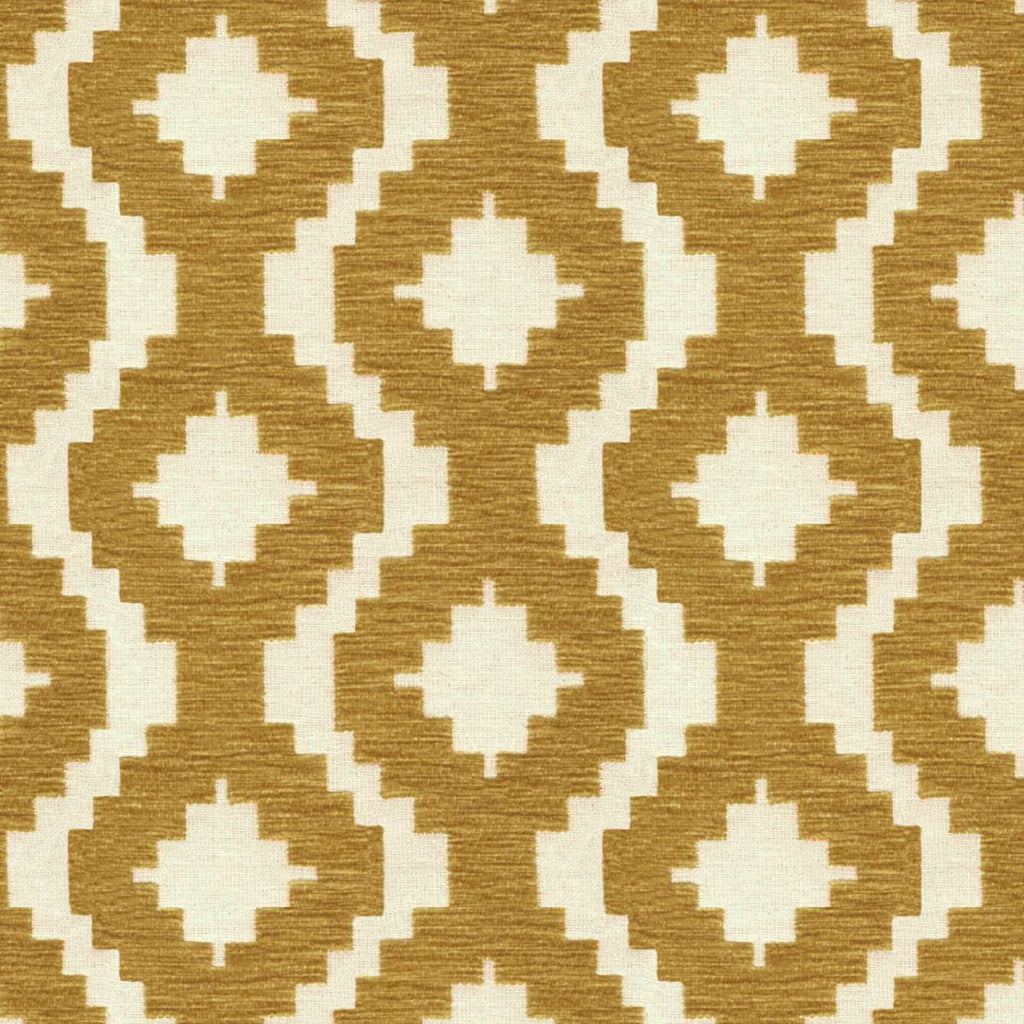 McAlister Textiles Arizona Geometric Yellow Fabric Fabrics 1 Metre