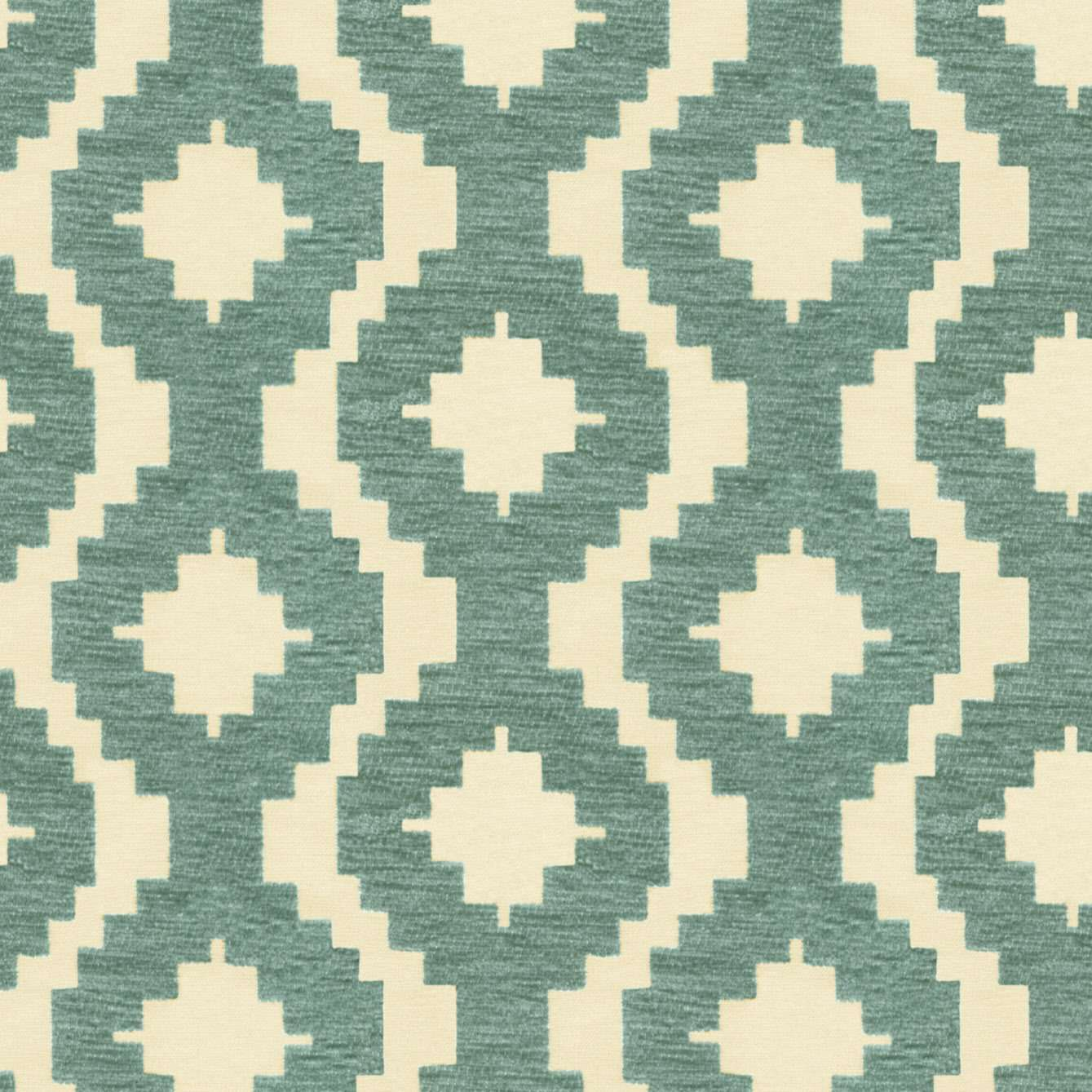 McAlister Textiles Arizona Geometric Duck Egg Blue Fabric Fabrics 1 Metre