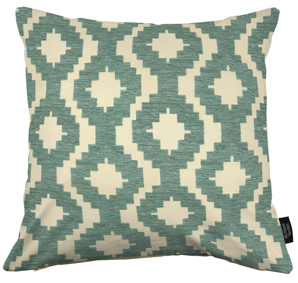 McAlister Textiles Arizona Geometric Duck Egg Blue Cushion Cushions and Covers Cover Only 43cm x 43cm