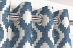 Charger l'image dans la galerie, McAlister Textiles Arizona Geometric Wedgewood Blue Curtains Tailored Curtains