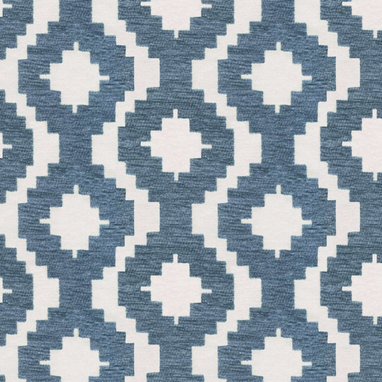 McAlister Textiles Arizona Geometric Wedgewood Blue Curtains Tailored Curtains