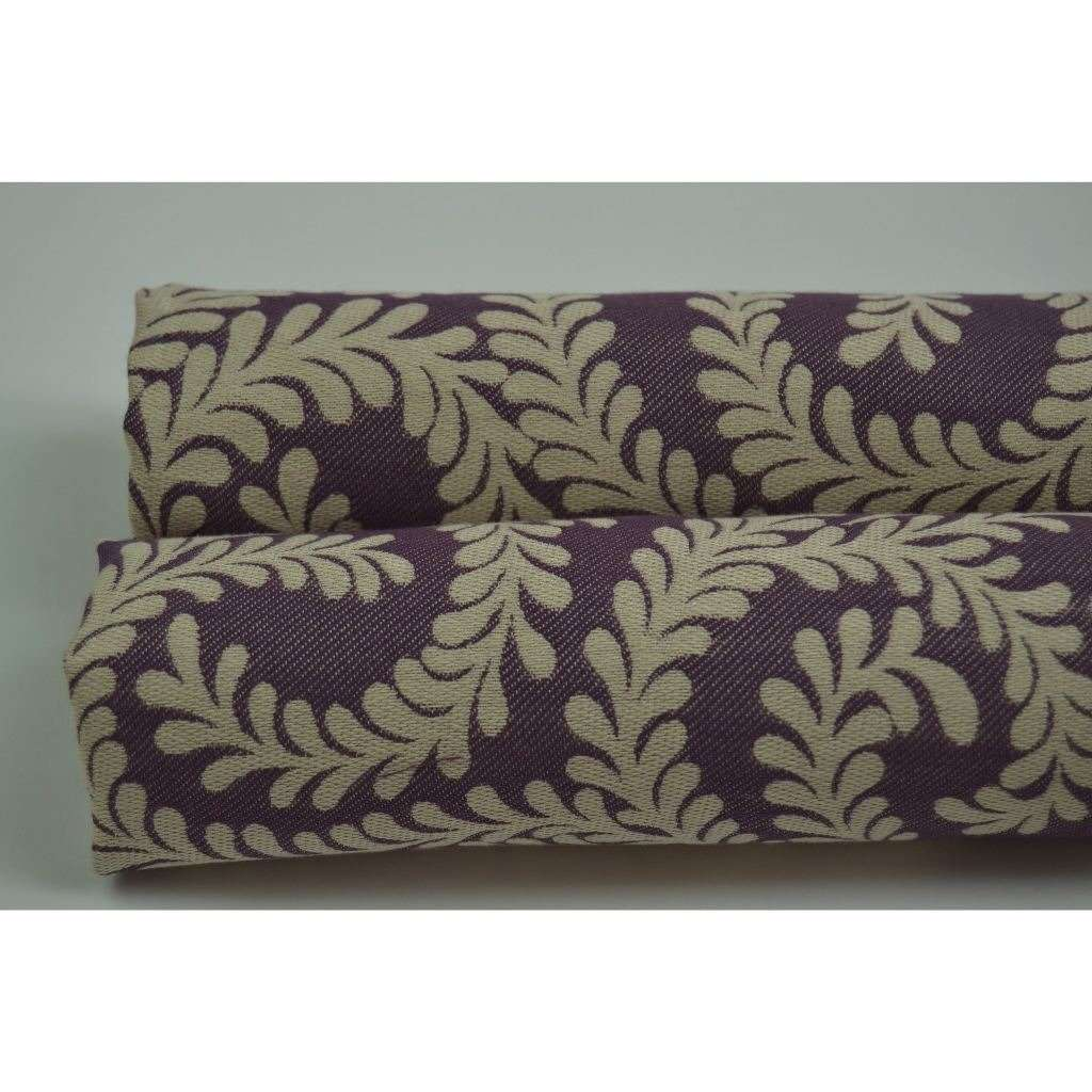 McAlister Textiles Little Leaf Aubergine Purple Fabric Fabrics