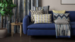 Load image into Gallery viewer, McAlister Textiles Aura Navy Blue Printed Velvet Fabric Fabrics