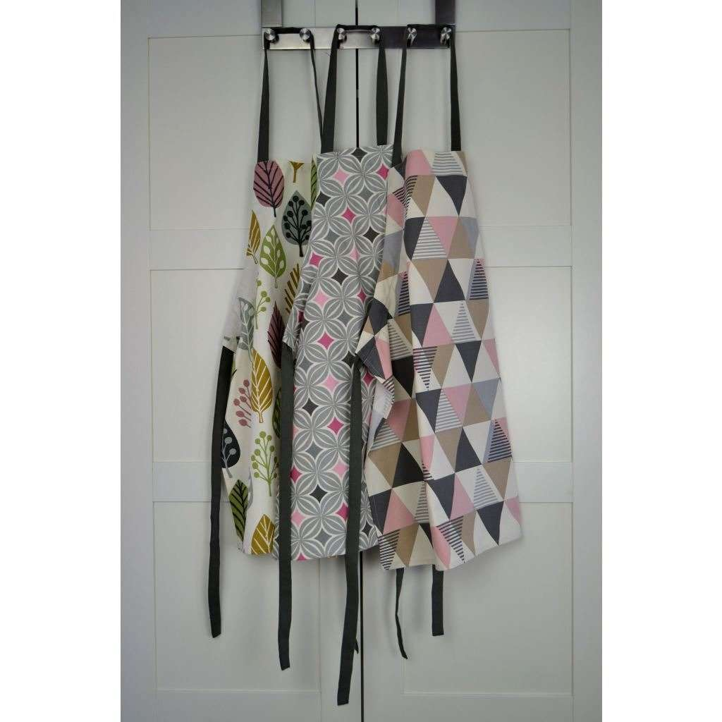 McAlister Textiles Vita Pink Cotton Print Apron Kitchen Accessories