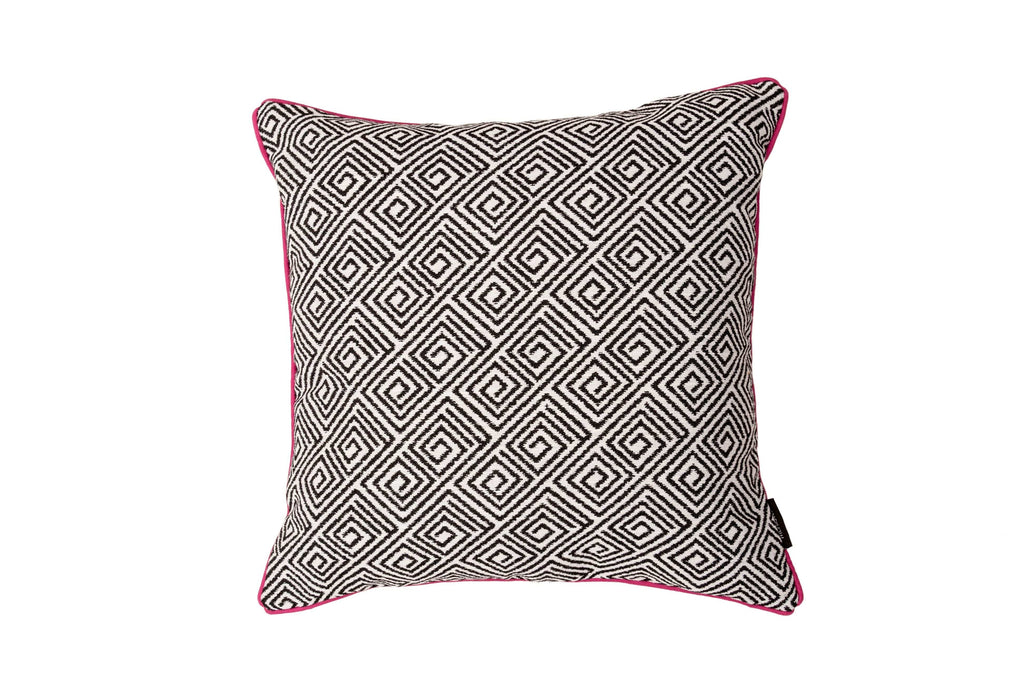 McAlister Textiles Acapulco Black + White Abstract Pillow Pillow Cover Only 43cm x 43cm
