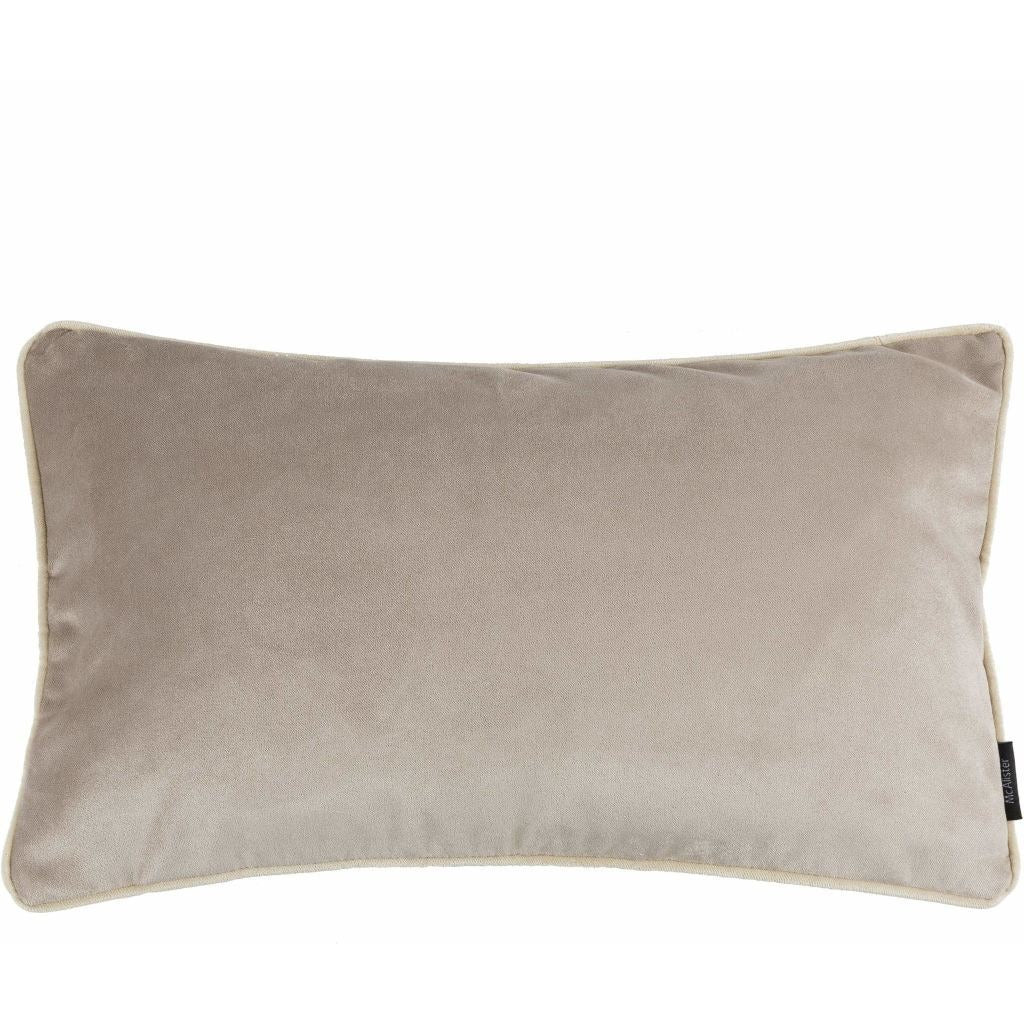McAlister Textiles Matt Beige Mink Velvet Cushion Cushions and Covers Cover Only 50cm x 30cm