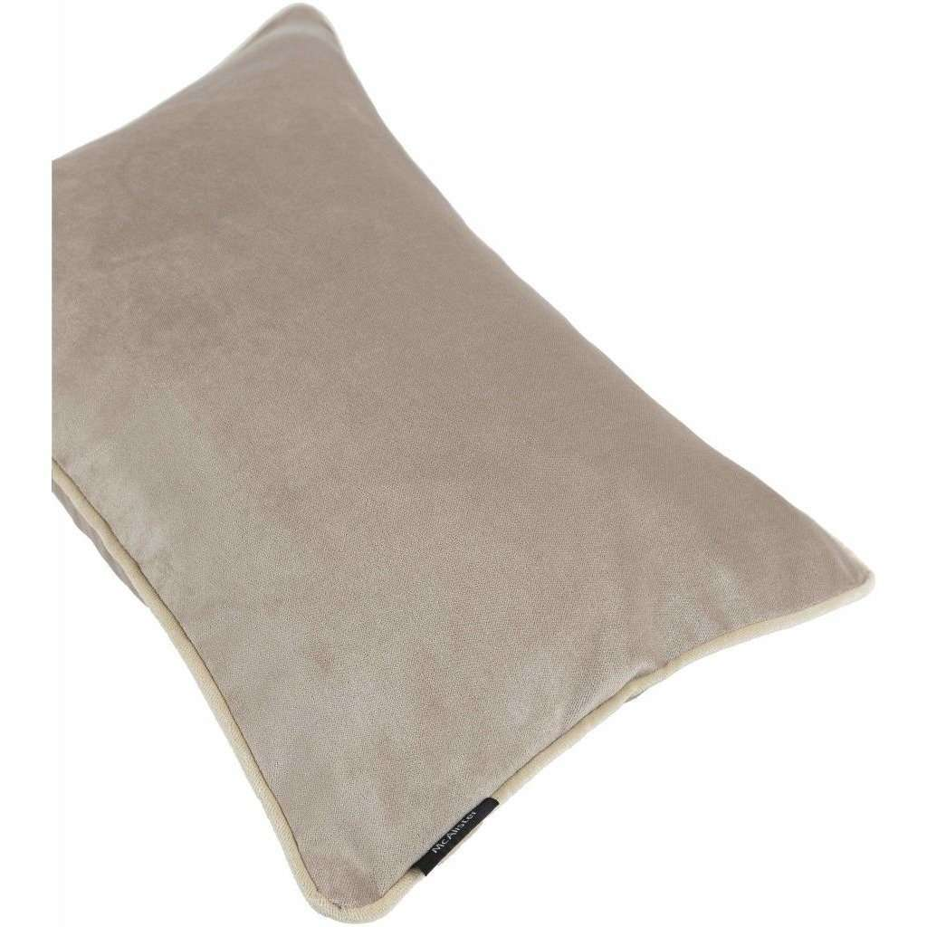 McAlister Textiles Matt Beige Mink Velvet Cushion Cushions and Covers