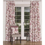 "Load image into Gallery viewer, McAlister Textiles Blush Pink Floral Velvet Curtains Tailored Curtains Pencil Pleat Standard Lining 116cm(w) x 182cm(d) (46"" x 72"")"