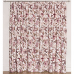 Load image into Gallery viewer, McAlister Textiles Blush Pink Floral Velvet Curtains Tailored Curtains