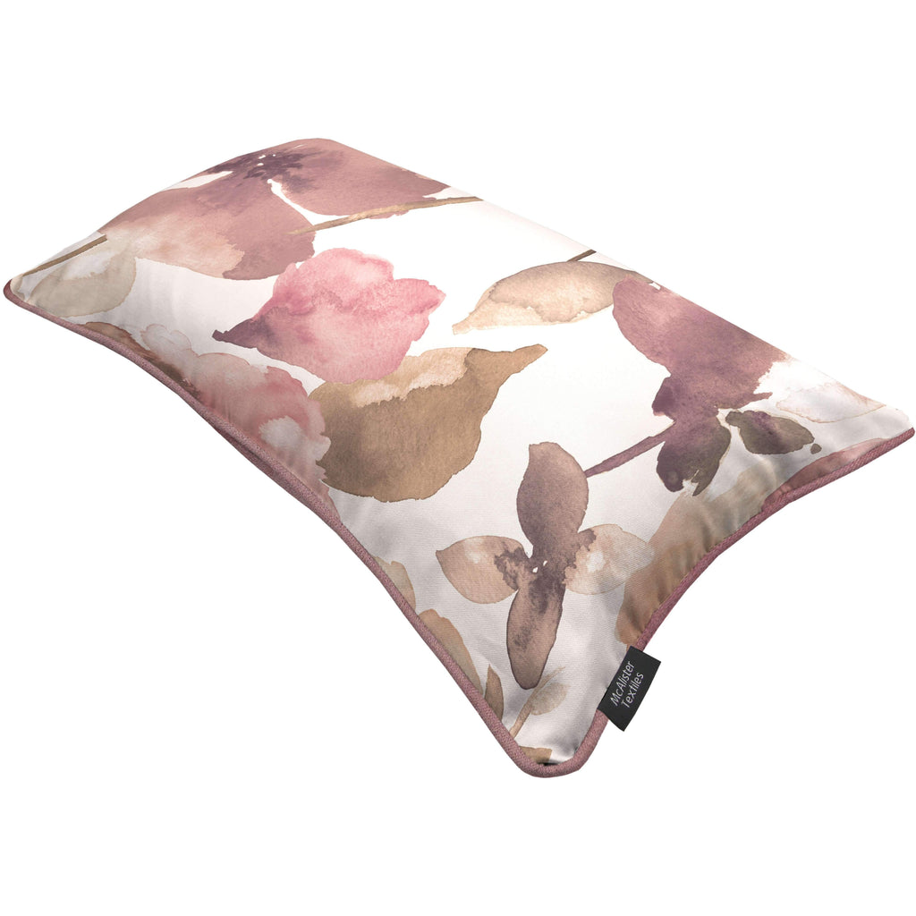 McAlister Textiles Blush Pink Floral Velvet Pillow Cover
