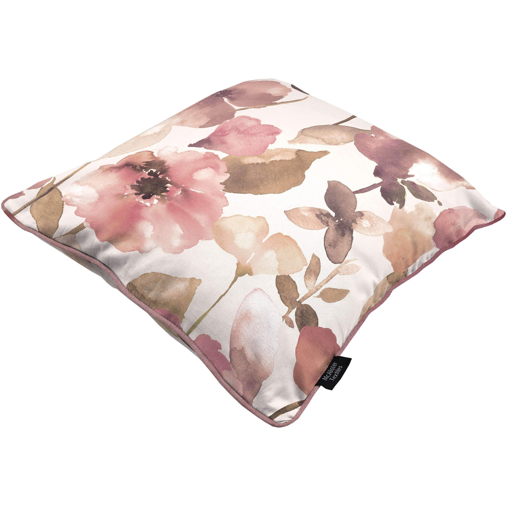 McAlister Textiles Blush Pink Floral Velvet Cushion Cushions and Covers
