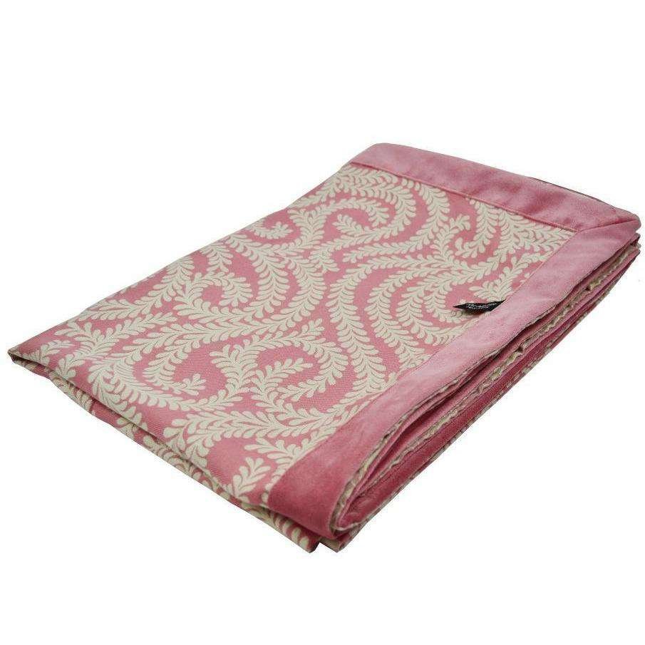 McAlister Textiles Little Leaf Blush Pink Throw Throws and Runners Regular (130cm x 200cm)