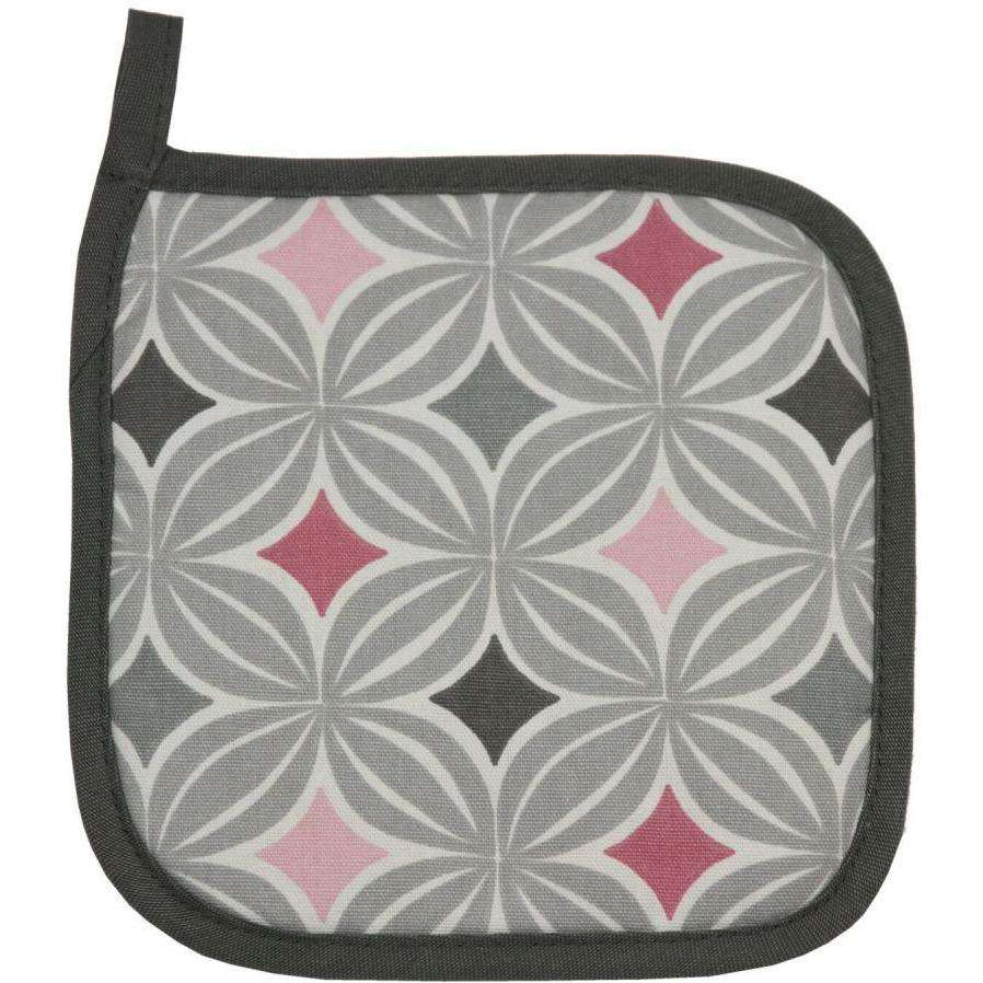 McAlister Textiles Laila Pink Cotton Print Fabric Trivet Kitchen Accessories