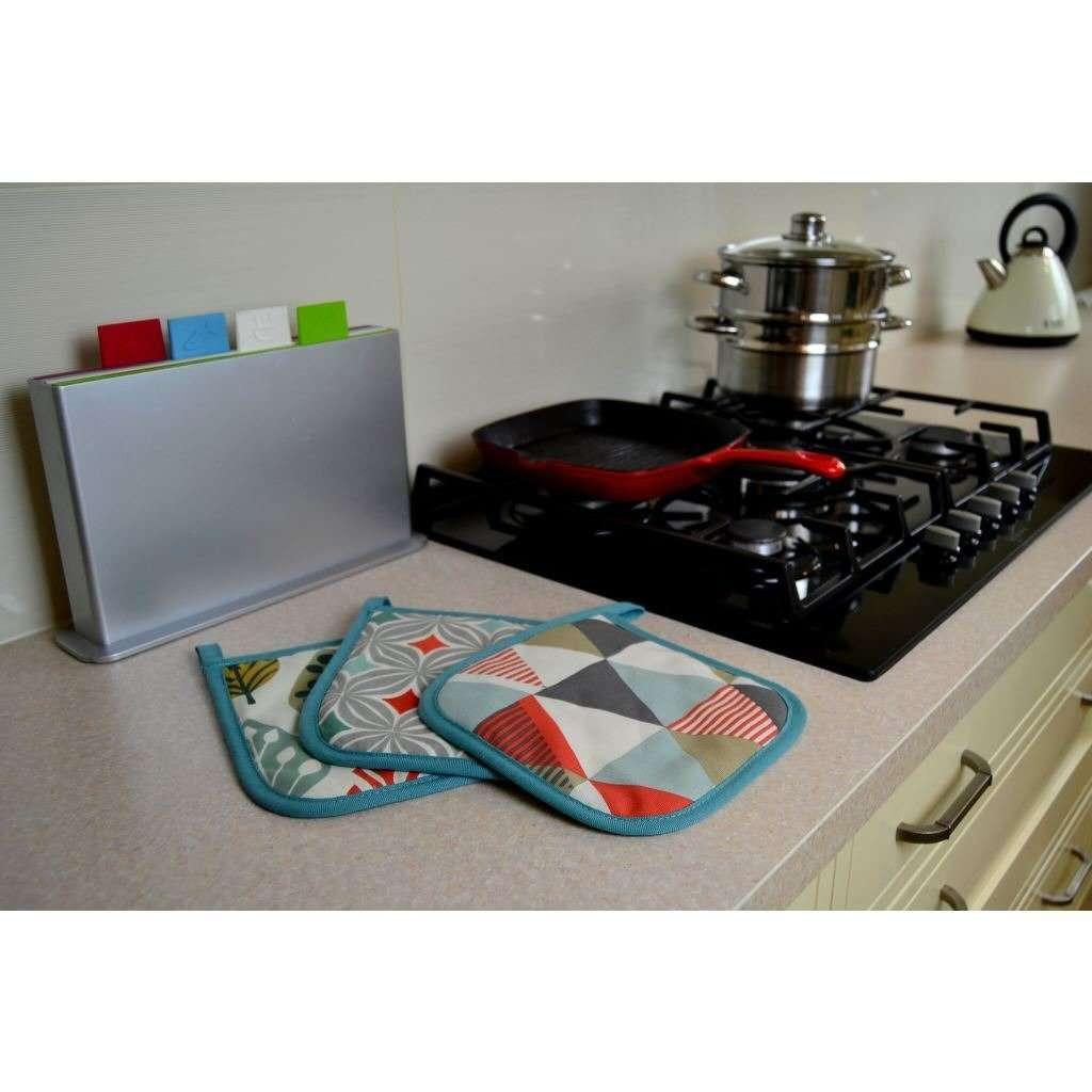 McAlister Textiles Vita Burnt Orange Cotton Print Oven Trivet Kitchen Accessories