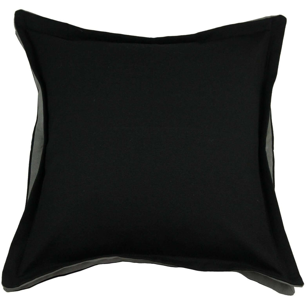 McAlister Textiles Panama Accent Black + Grey Cushion Cushions and Covers Cover Only 43cm x 43cm