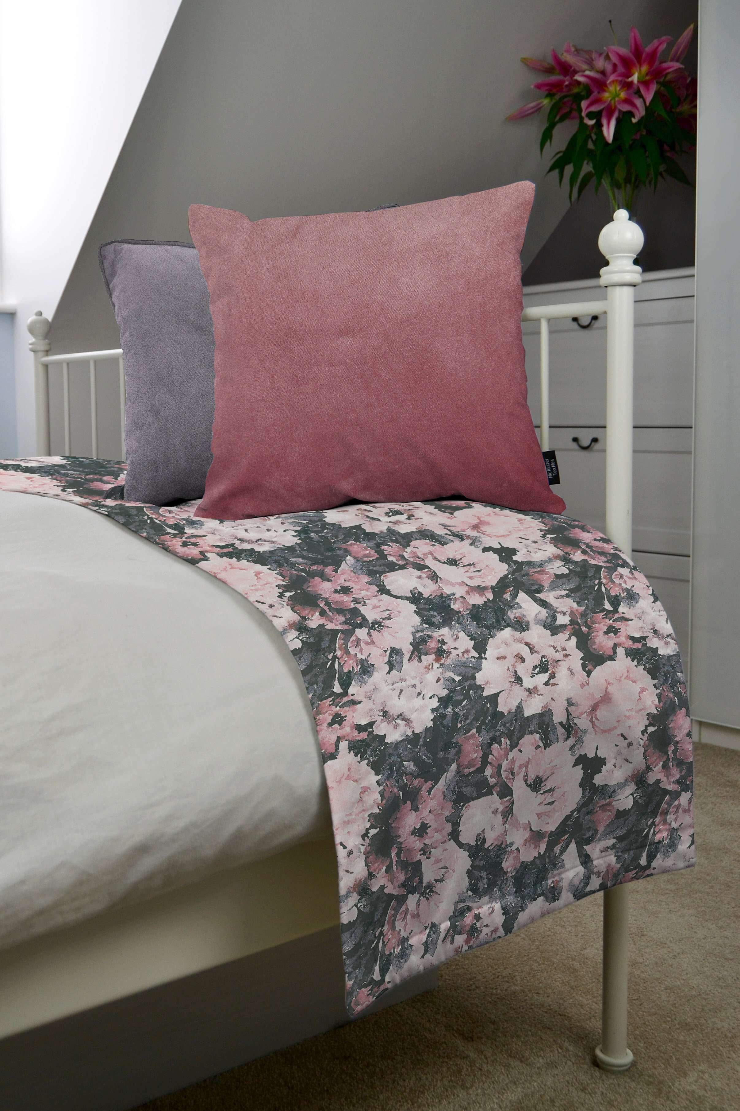 McAlister Textiles Camille Floral Velvet Throw Blanket Throws and Runners