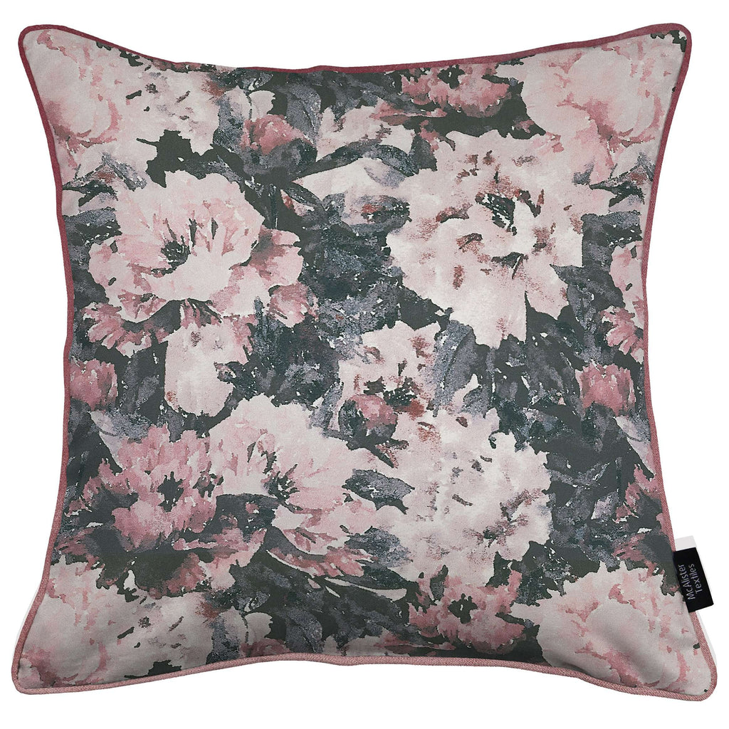 McAlister Textiles Camille Floral Velvet Cushion Cushions and Covers Cover Only 43cm x 43cm