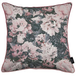 Load image into Gallery viewer, McAlister Textiles Camille Floral Velvet Cushion Cushions and Covers Cover Only 43cm x 43cm