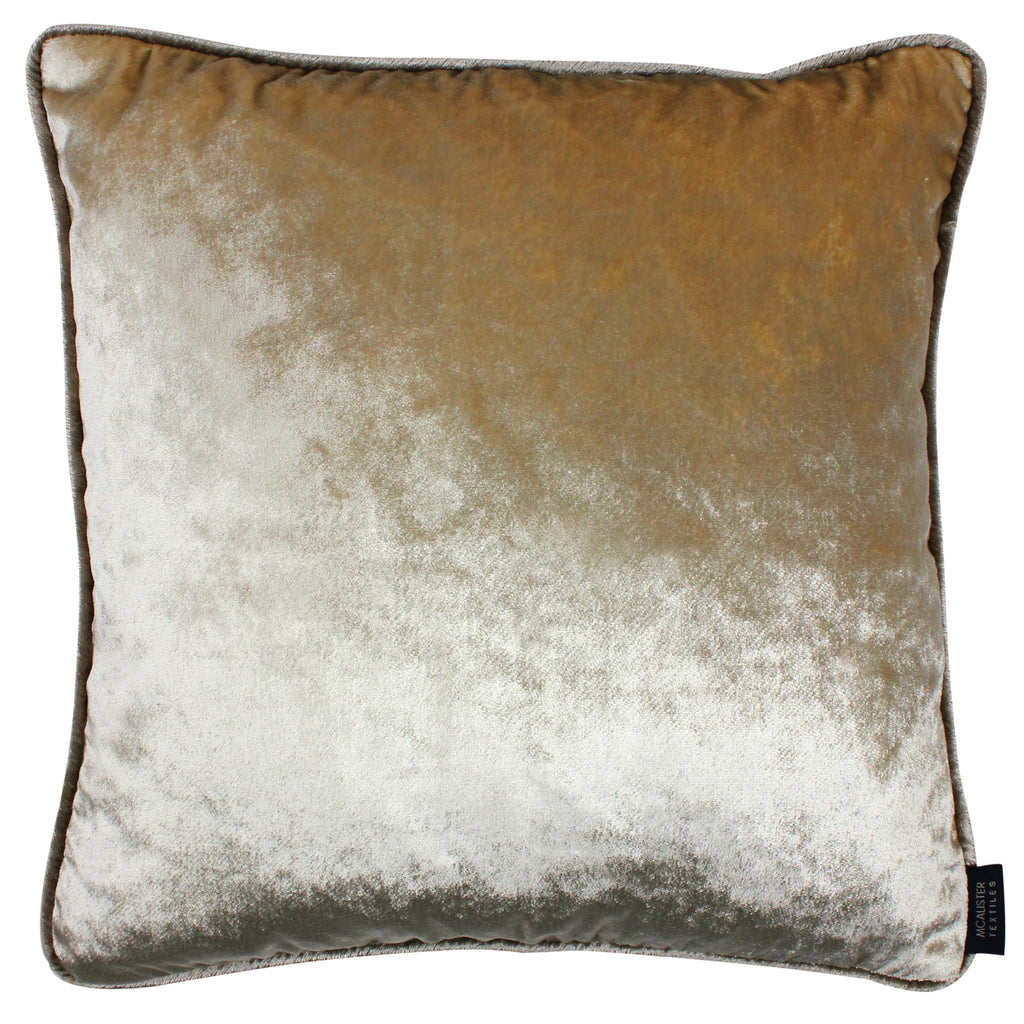 McAlister Textiles Shiny Champagne Gold Crushed Velvet Cushions Cushions and Covers Cover Only 43cm x 43cm