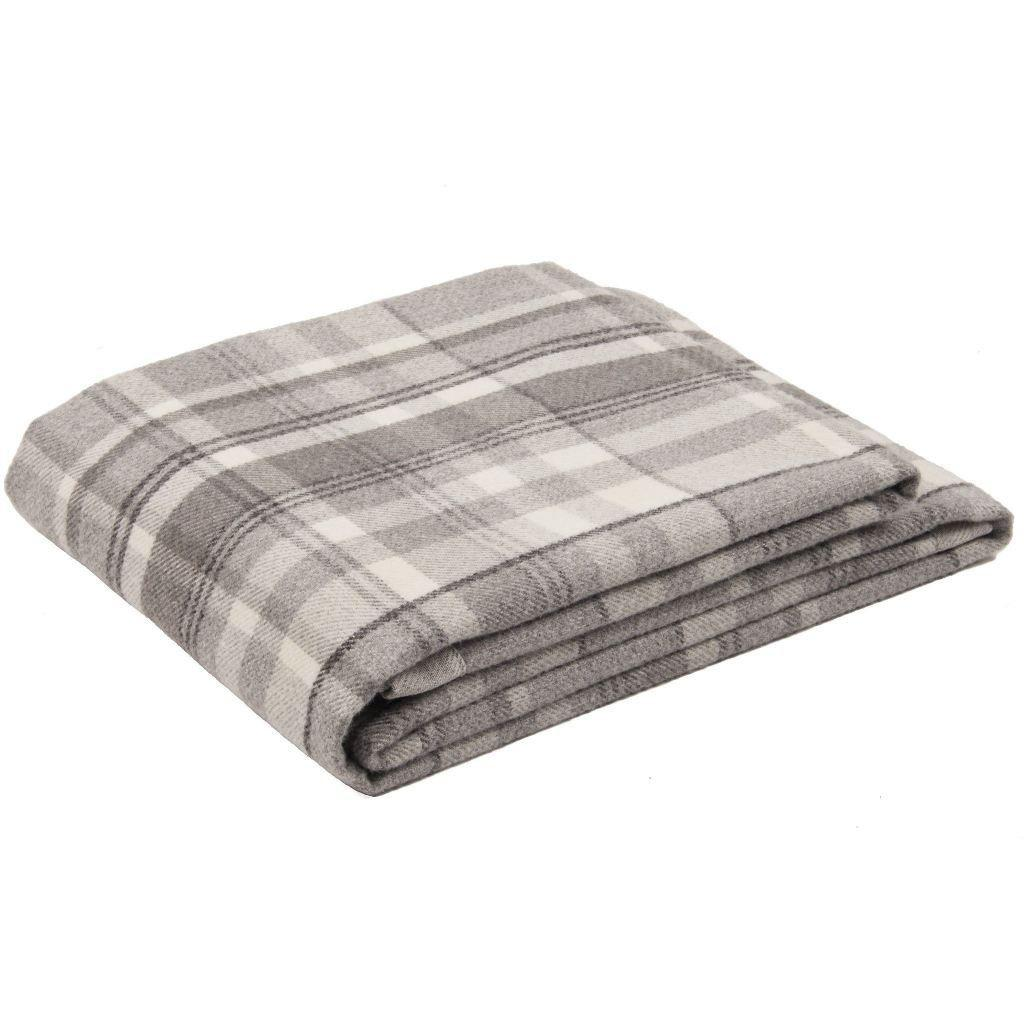 McAlister Textiles Heritage Charcoal Grey Tartan Table Runner Throws and Runners Table Runner (30cm x 200cm)