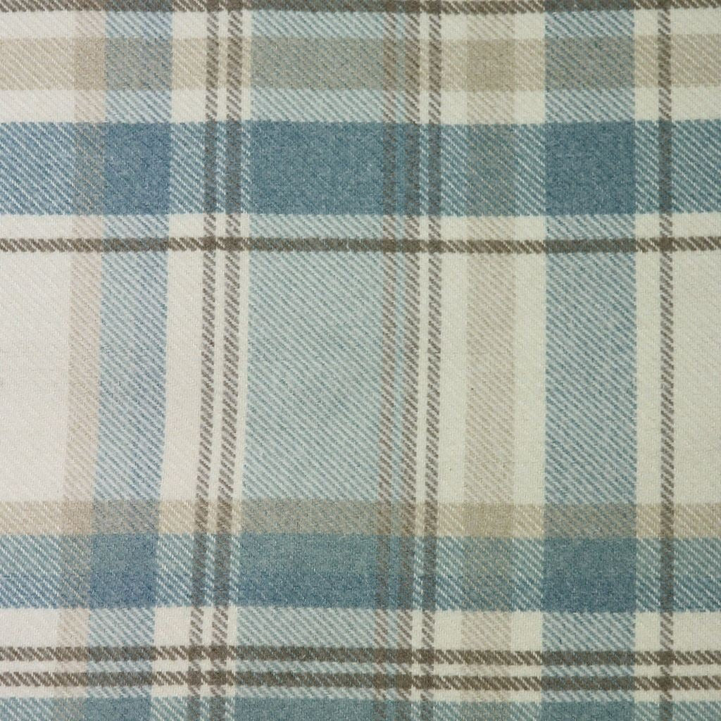 McAlister Textiles Heritage Duck Egg Blue Tartan Throws & Runners Throws and Runners