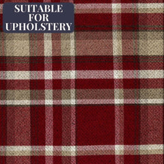 McAlister Textiles Heritage Wool Feel Red Tartan Fabric-Fabrics-