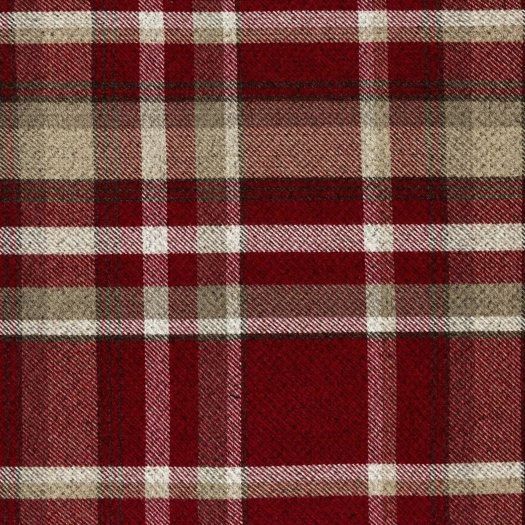 McAlister Textiles Heritage Red + White Tartan Cushion Cushions and Covers