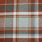 Load image into Gallery viewer, McAlister Textiles Heritage Burnt Orange + Grey Tartan Pillow Pillow