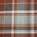 Load image into Gallery viewer, McAlister Textiles Heritage Burnt Orange + Grey Tartan Cushion Cushions and Covers