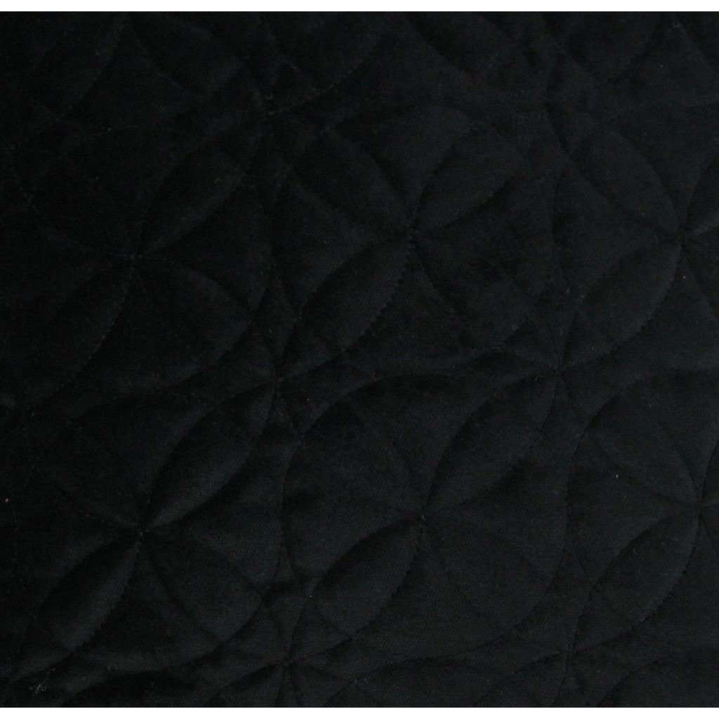 McAlister Textiles Round Quilted Black Velvet Cushion Cushions and Covers