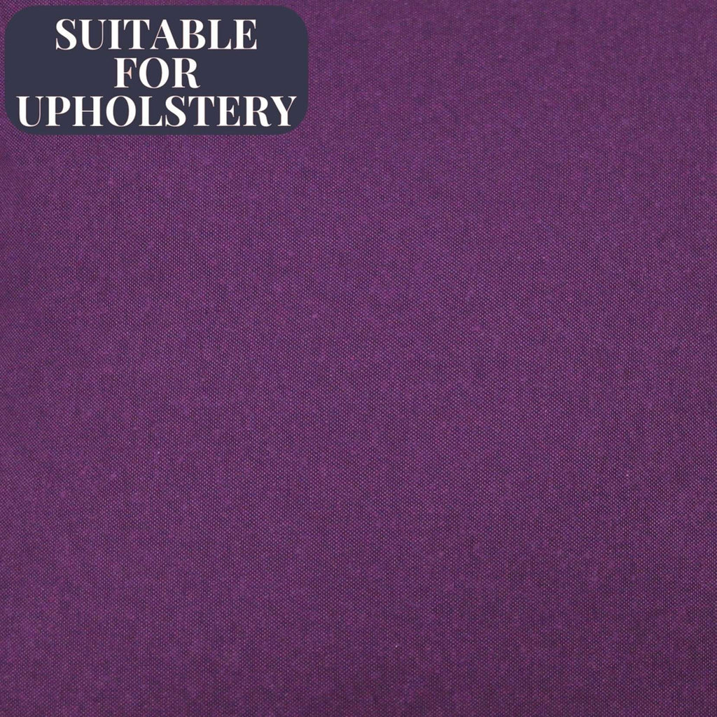 McAlister Textiles Panama Accent Plain Fabric Sample - Aubergine Purple Fabrics