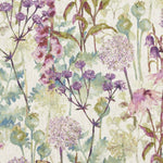 Load image into Gallery viewer, McAlister Textiles Wildflower Pastel Purple Linen Cushion Cushions and Covers