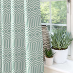 Load image into Gallery viewer, McAlister Textiles Colorado Geometric Duck Egg Blue Curtains Tailored Curtains