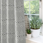 Load image into Gallery viewer, McAlister Textiles Colorado Geometric Charcoal Grey Curtains Tailored Curtains