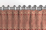 Carica l'immagine nel visualizzatore di Gallery, McAlister Textiles Colorado Geometric Red Curtains Tailored Curtains