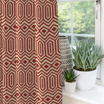 "Load image into Gallery viewer, McAlister Textiles Colorado Geometric Red Curtains Tailored Curtains 116cm(w) x 182cm(d) (46"" x 72"")"