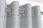 Cargar imagen en el visor de la galería, McAlister Textiles Colorado Geometric Navy Blue Curtains Tailored Curtains