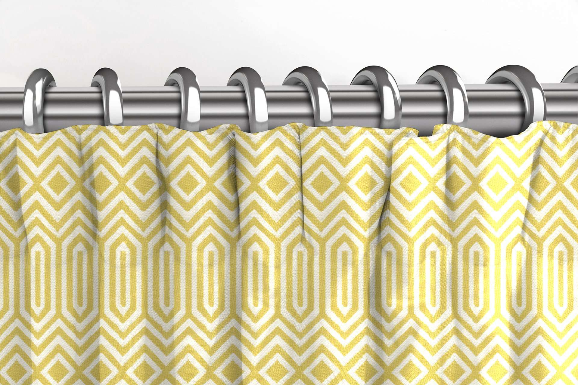 McAlister Textiles Colorado Geometric Yellow Curtains Tailored Curtains