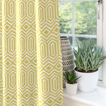 "Load image into Gallery viewer, McAlister Textiles Colorado Geometric Yellow Curtains Tailored Curtains 116cm(w) x 182cm(d) (46"" x 72"")"