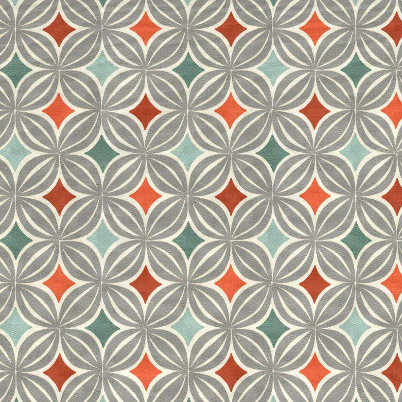 McAlister Textiles Laila Cotton Burnt Orange Printed Fabric Fabrics 1 Metre