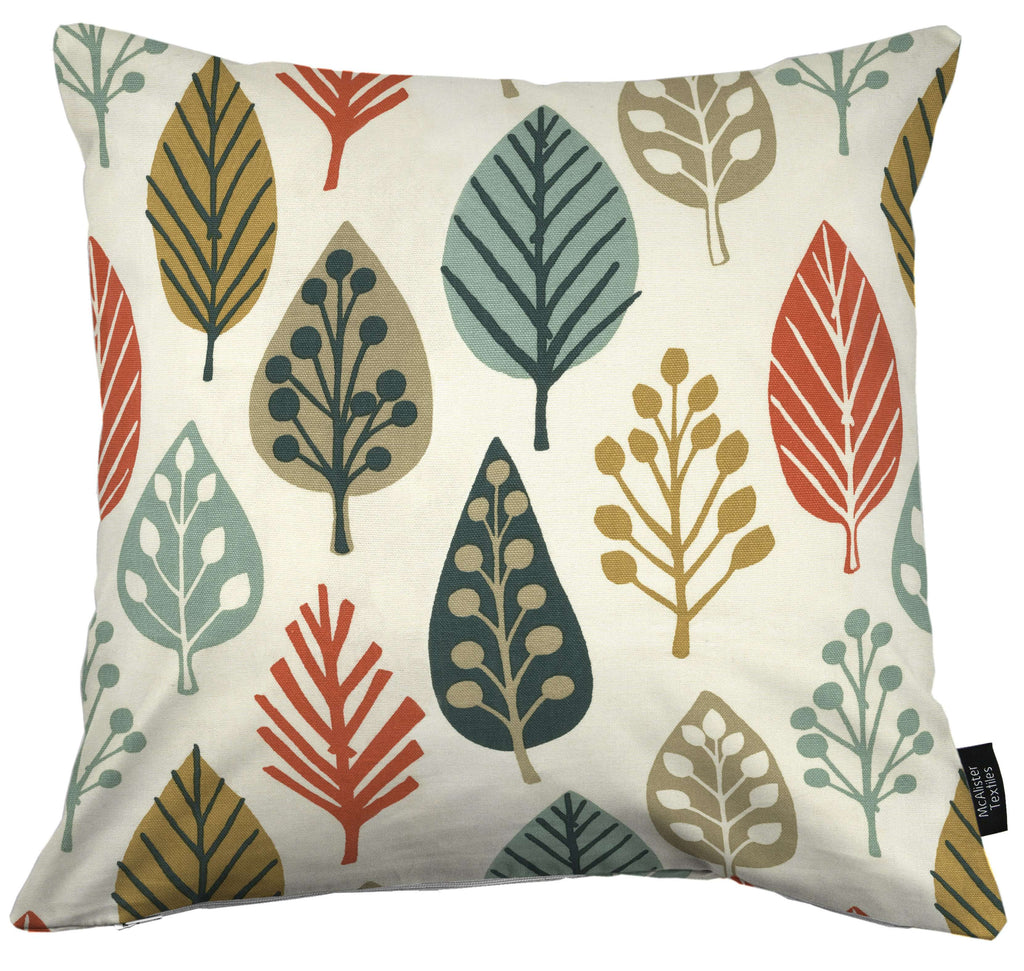 McAlister Textiles Magda Cotton Print Burnt Orange Cushion Cushions and Covers Cover Only 43cm x 43cm