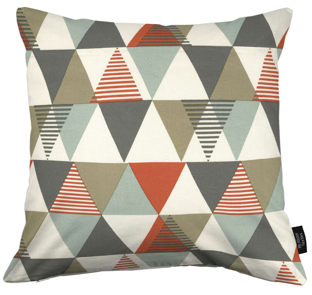 McAlister Textiles Vita Cotton Print Burnt Orange Cushion Cushions and Covers Cover Only 43cm x 43cm