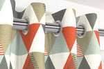 Load image into Gallery viewer, McAlister Textiles Vita Cotton Print Burnt Orange Curtains Tailored Curtains